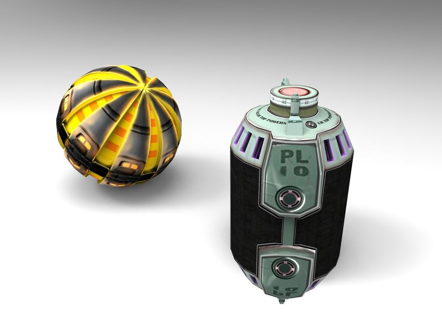 Modello 3D di fantascienza della granata royalty-free 3d model - Preview no. 9