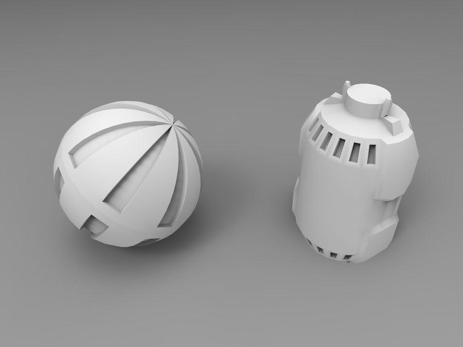 Modello 3D di fantascienza della granata royalty-free 3d model - Preview no. 35