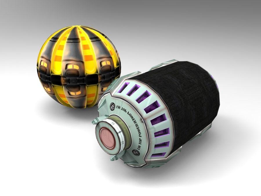 Modello 3D di fantascienza della granata royalty-free 3d model - Preview no. 1