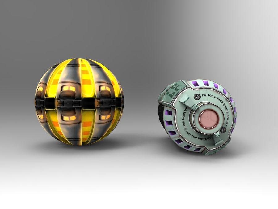 Modello 3D di fantascienza della granata royalty-free 3d model - Preview no. 42