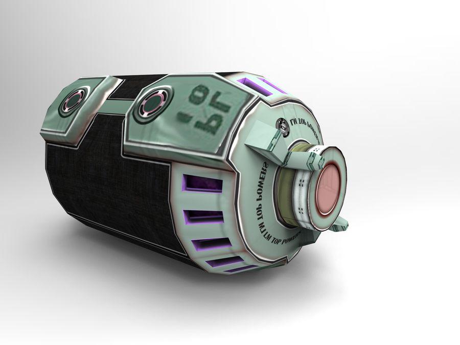 Modello 3D di fantascienza della granata royalty-free 3d model - Preview no. 20