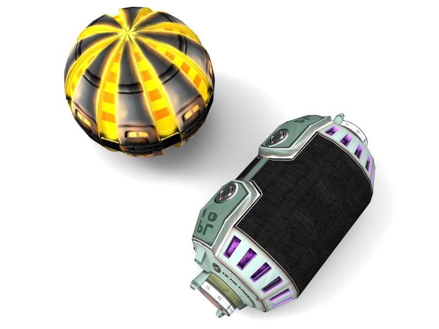 Modello 3D di fantascienza della granata royalty-free 3d model - Preview no. 31
