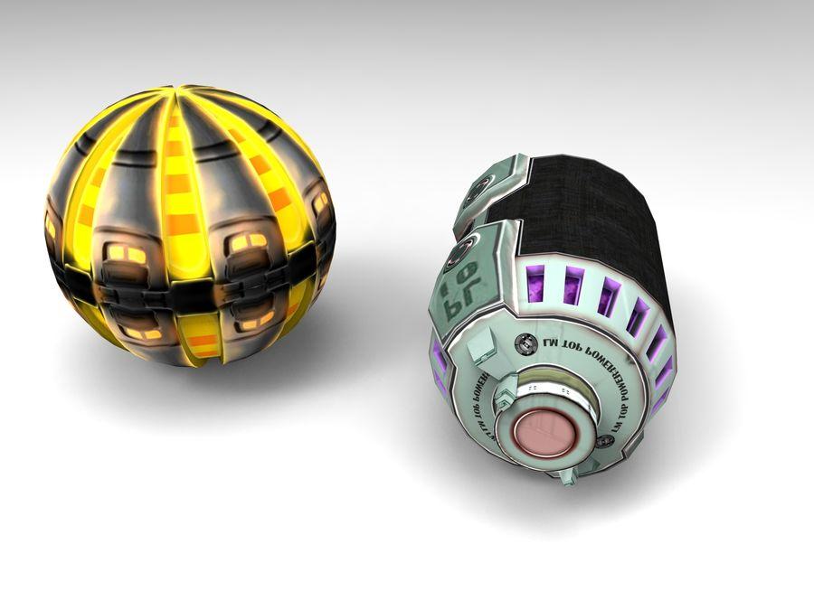 Modello 3D di fantascienza della granata royalty-free 3d model - Preview no. 46