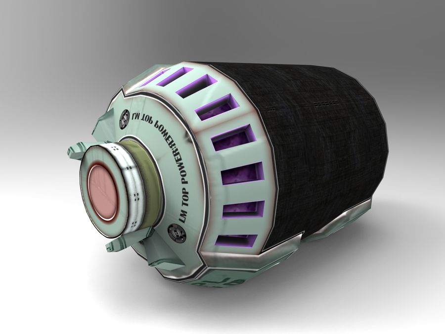 Modello 3D di fantascienza della granata royalty-free 3d model - Preview no. 21