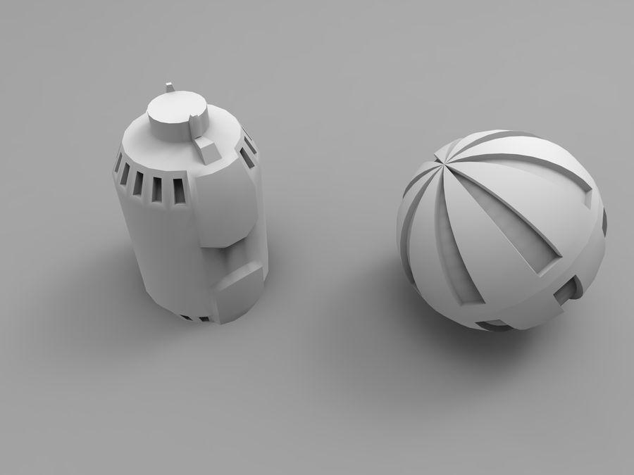 Modello 3D di fantascienza della granata royalty-free 3d model - Preview no. 38