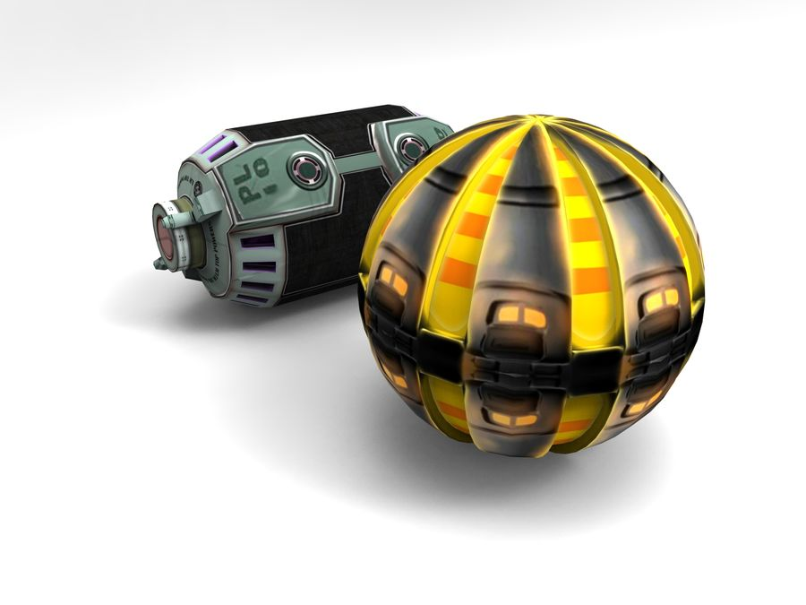 Modello 3D di fantascienza della granata royalty-free 3d model - Preview no. 6