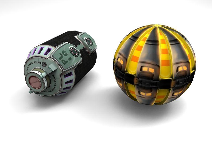 Modello 3D di fantascienza della granata royalty-free 3d model - Preview no. 5