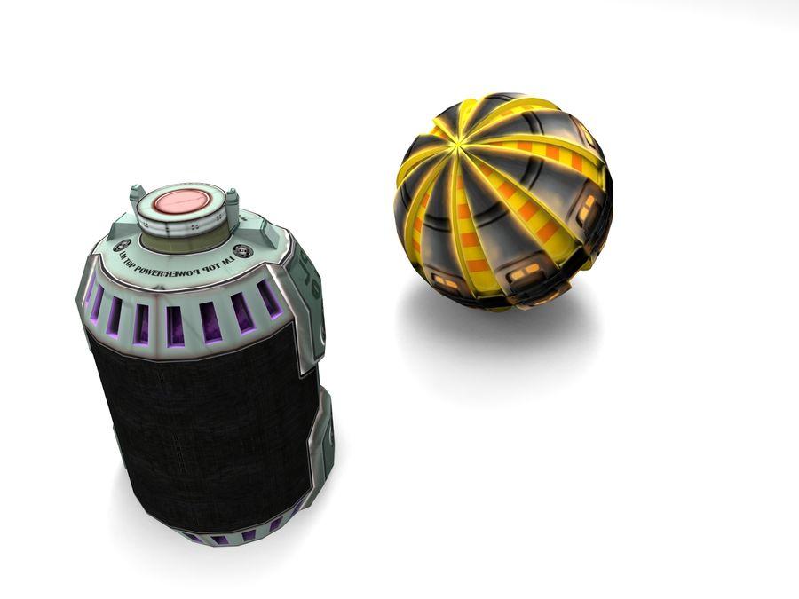 Modello 3D di fantascienza della granata royalty-free 3d model - Preview no. 10