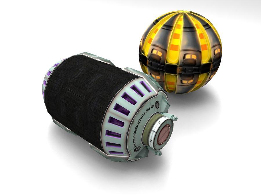 Modello 3D di fantascienza della granata royalty-free 3d model - Preview no. 3