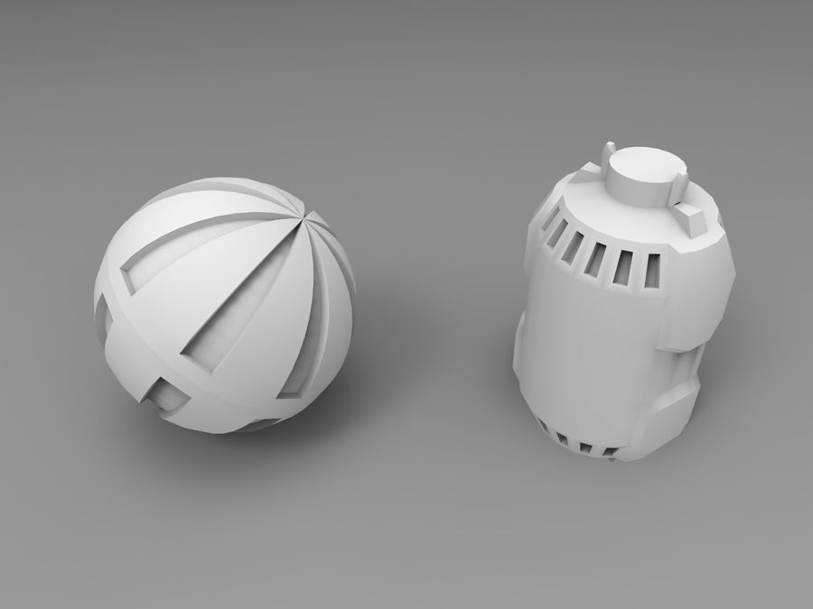 Modello 3D di fantascienza della granata royalty-free 3d model - Preview no. 12