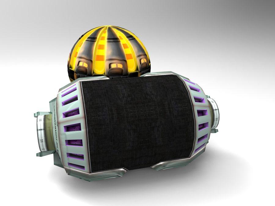 Modello 3D di fantascienza della granata royalty-free 3d model - Preview no. 2