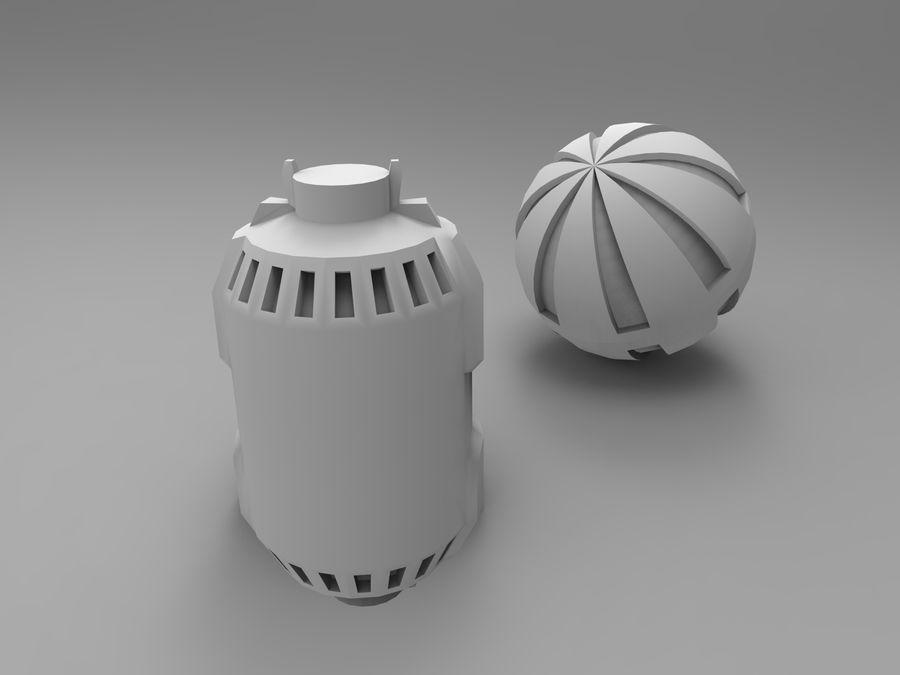 Modello 3D di fantascienza della granata royalty-free 3d model - Preview no. 37