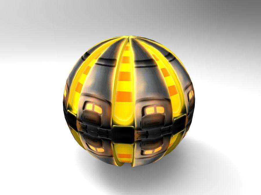 Modello 3D di fantascienza della granata royalty-free 3d model - Preview no. 22