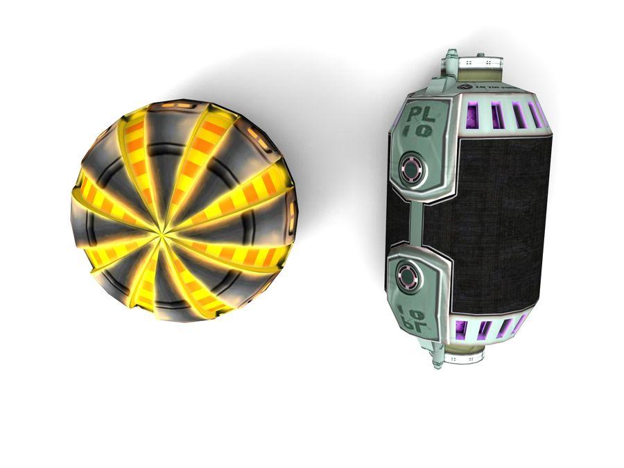 Modello 3D di fantascienza della granata royalty-free 3d model - Preview no. 7
