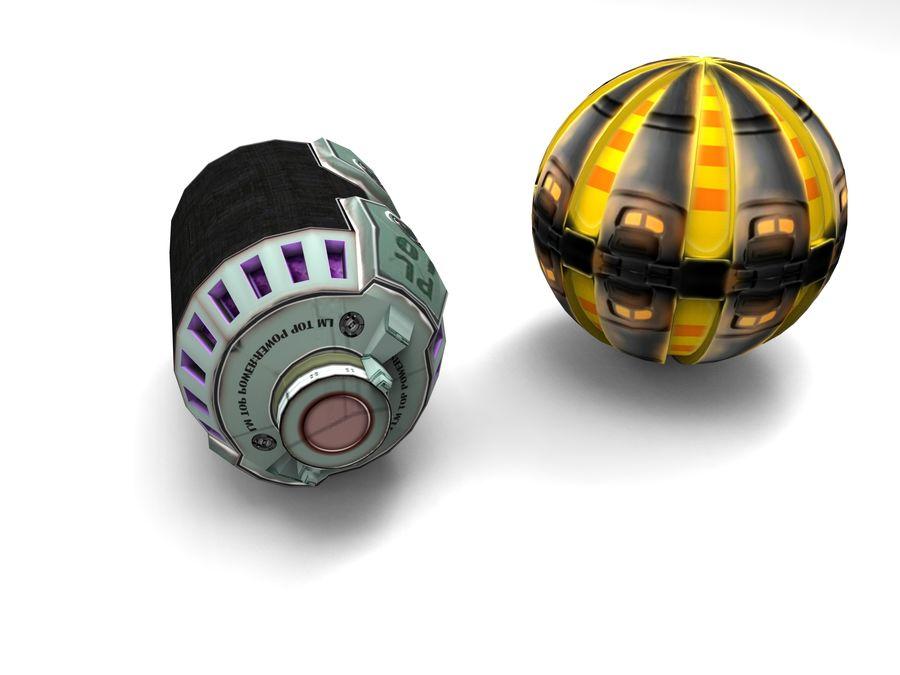 Modello 3D di fantascienza della granata royalty-free 3d model - Preview no. 4