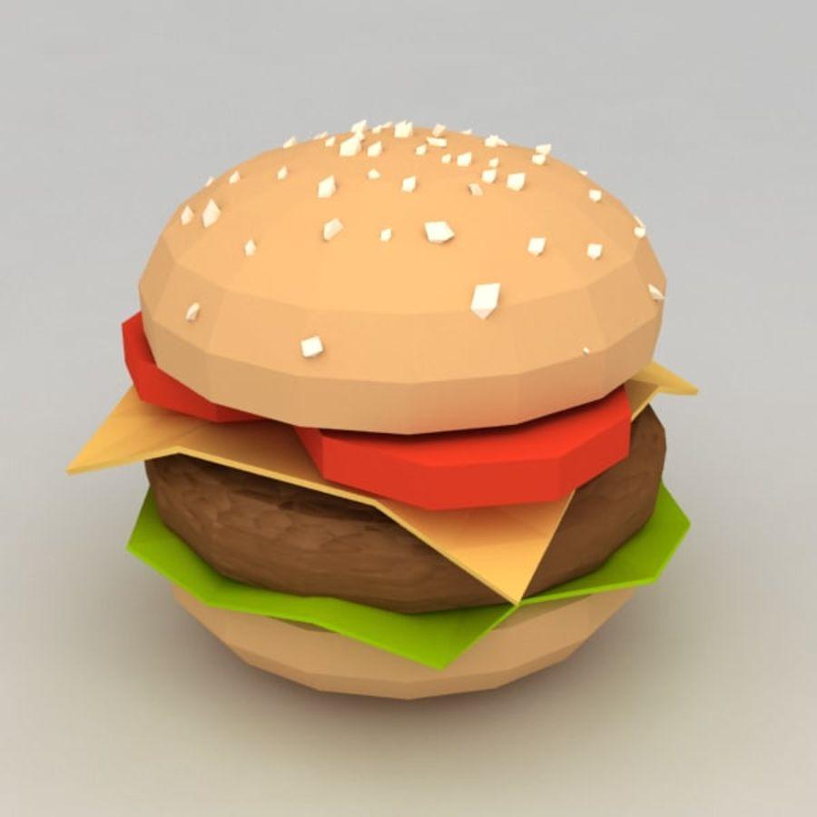 Hamburguesa baja en poli royalty-free modelo 3d - Preview no. 5