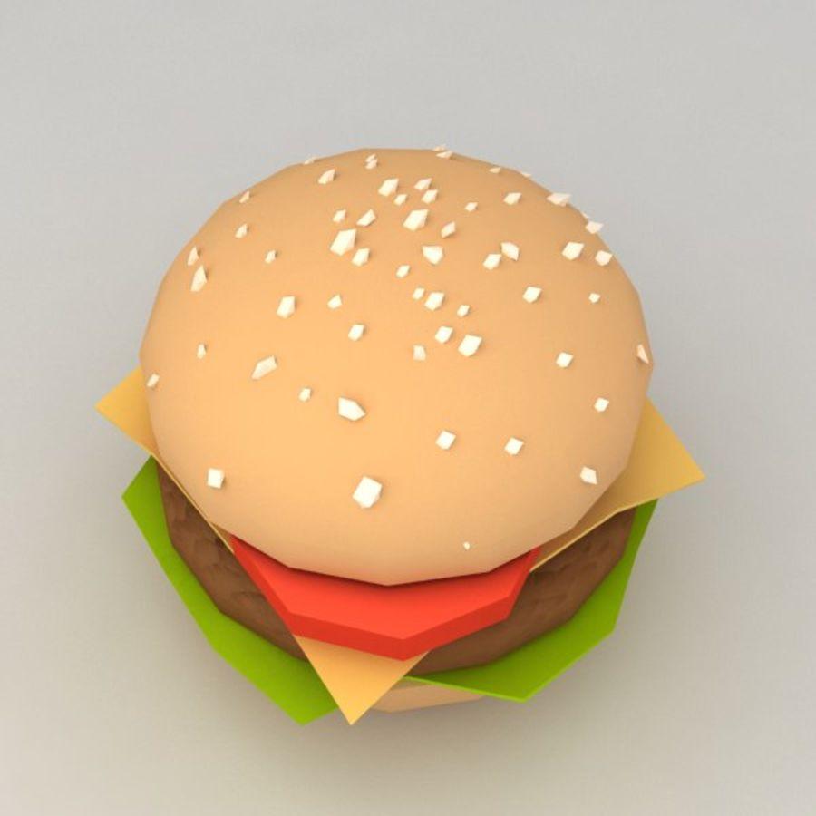 Hamburguesa baja en poli royalty-free modelo 3d - Preview no. 2