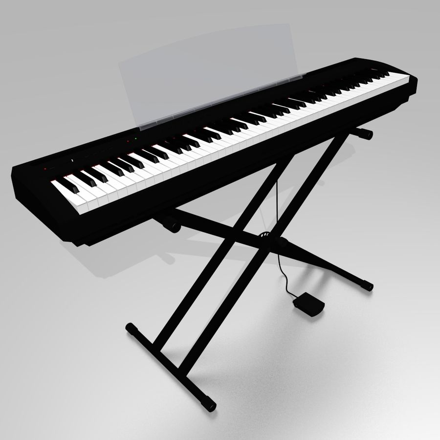 数字舞台钢琴 royalty-free 3d model - Preview no. 1