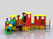 Train Playground 3d model