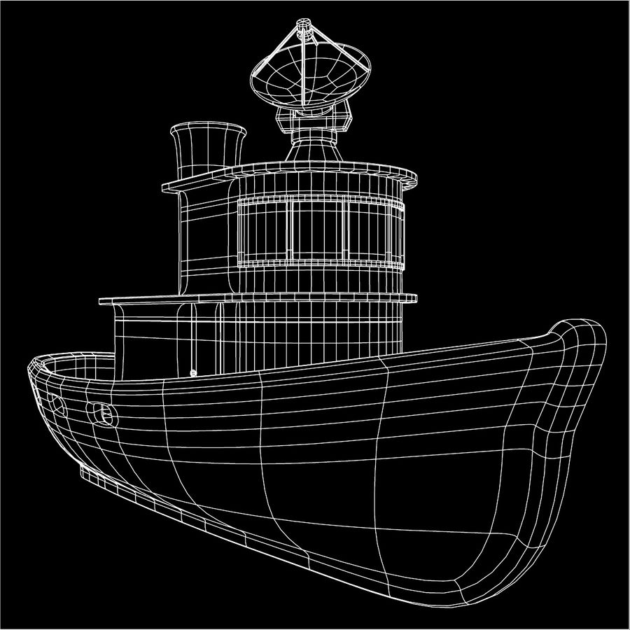 Boat royalty-free 3d model - Preview no. 9