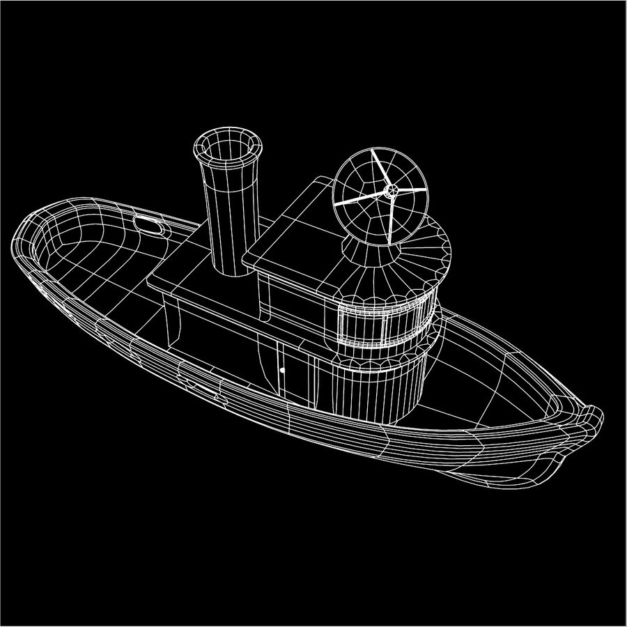 Boat royalty-free 3d model - Preview no. 13
