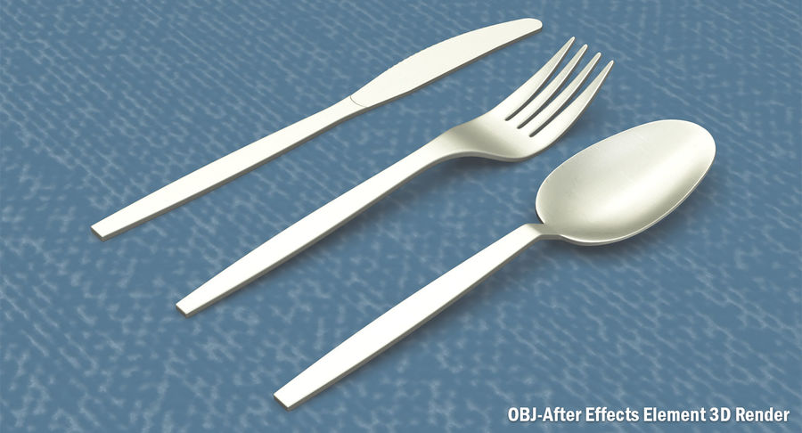 Plastic Cutlery royalty-free 3d model - Preview no. 11