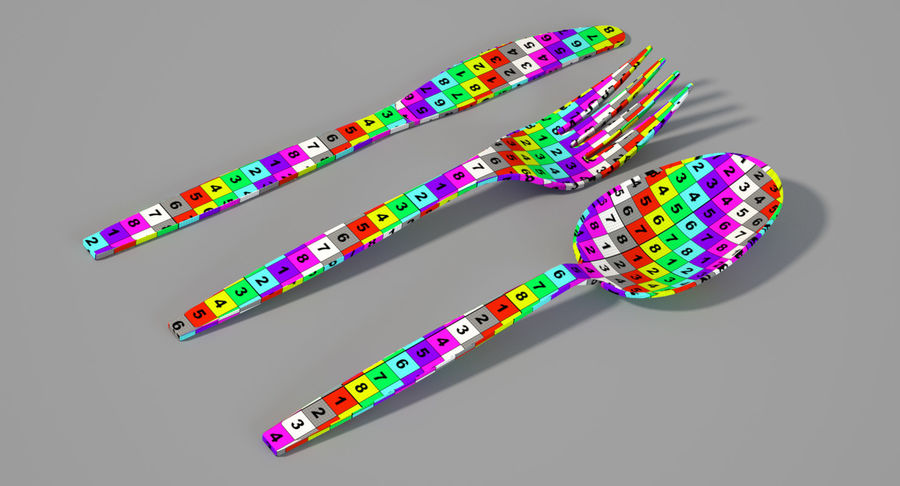 Plastic Cutlery royalty-free 3d model - Preview no. 6