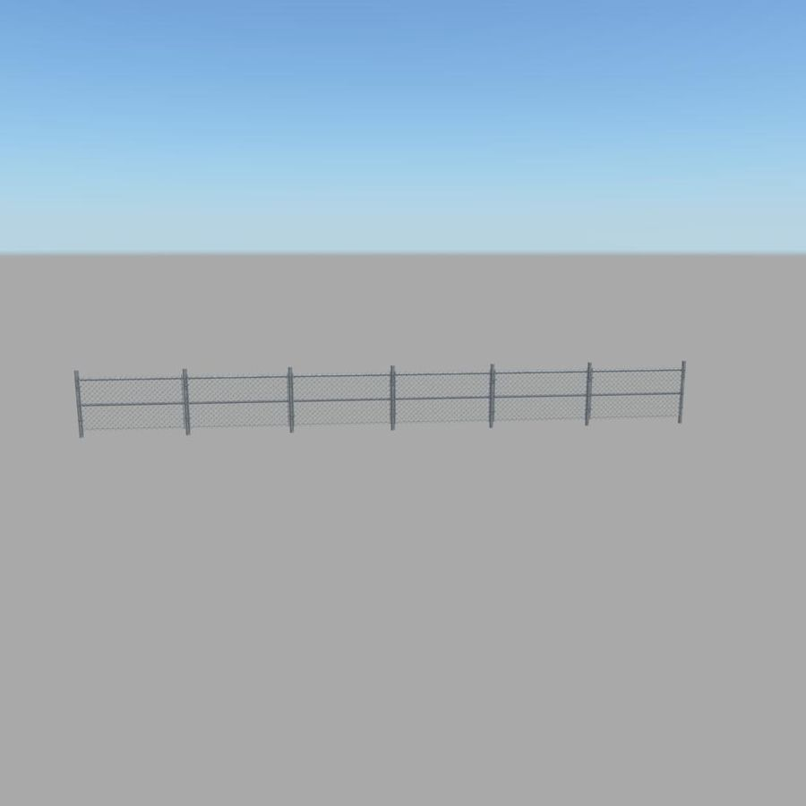 Fence royalty-free 3d model - Preview no. 6