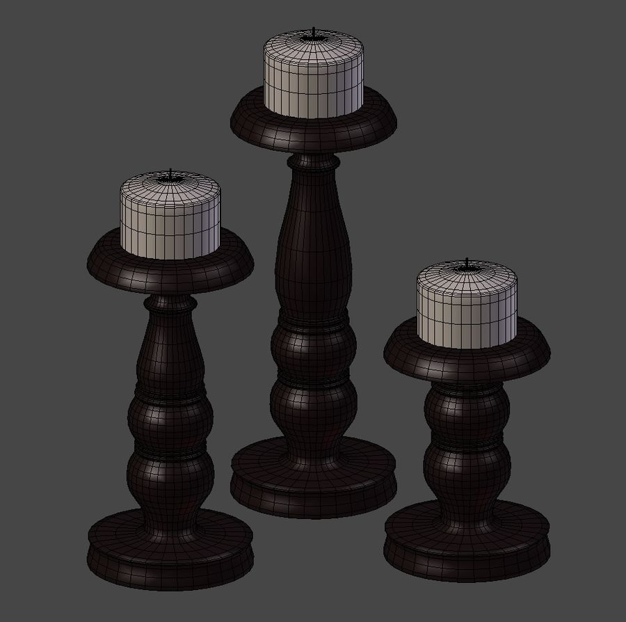 Подсвечник royalty-free 3d model - Preview no. 6
