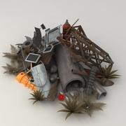 Metal junk pile 3d model