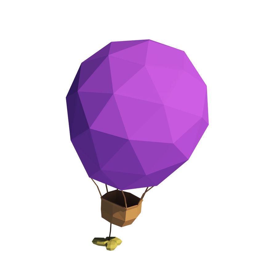 Cartoon luchtballon royalty-free 3d model - Preview no. 3