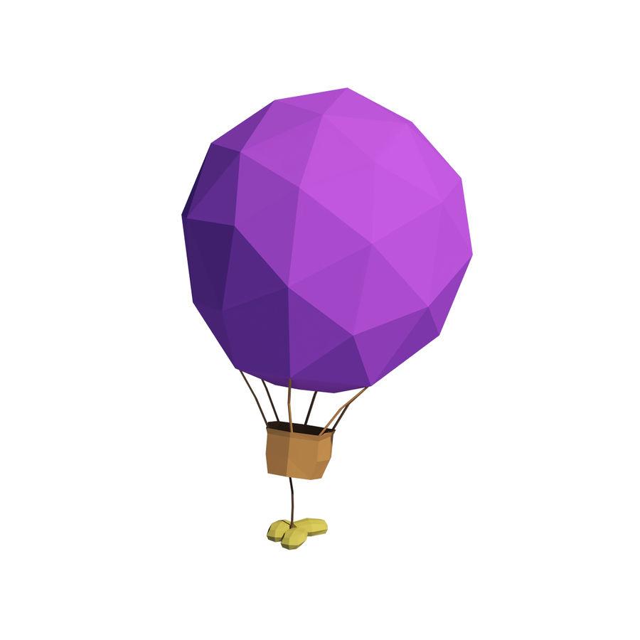 Cartoon luchtballon royalty-free 3d model - Preview no. 4