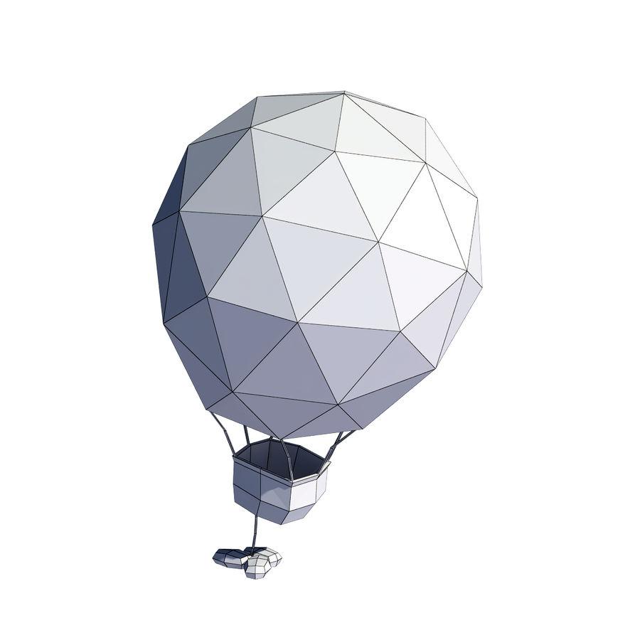 Cartoon luchtballon royalty-free 3d model - Preview no. 9