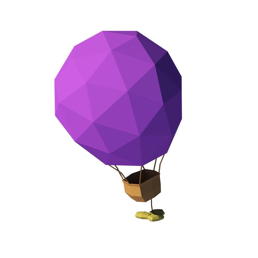 Cartoon luchtballon royalty-free 3d model - Preview no. 2