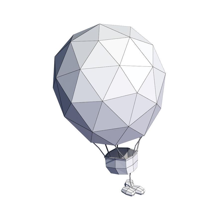 Cartoon luchtballon royalty-free 3d model - Preview no. 7