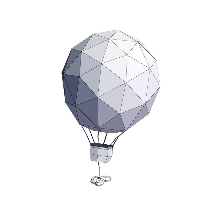 Cartoon luchtballon royalty-free 3d model - Preview no. 10