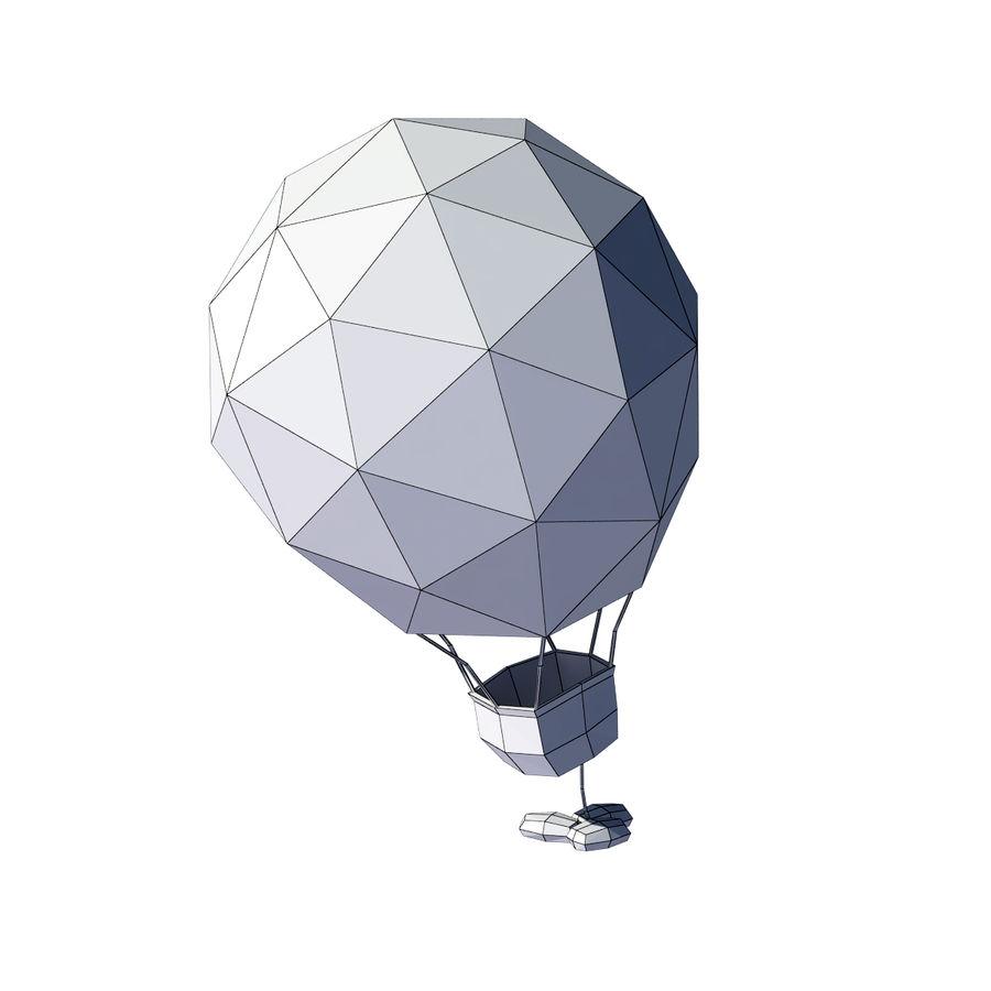 Cartoon luchtballon royalty-free 3d model - Preview no. 8