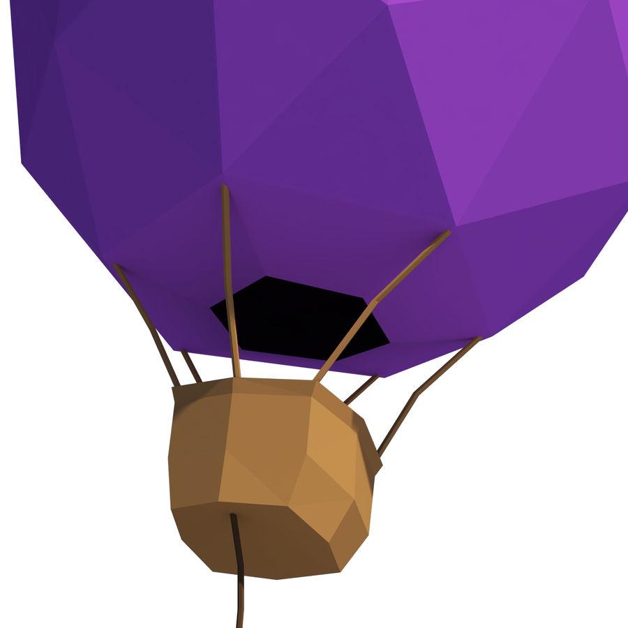 Cartoon luchtballon royalty-free 3d model - Preview no. 6