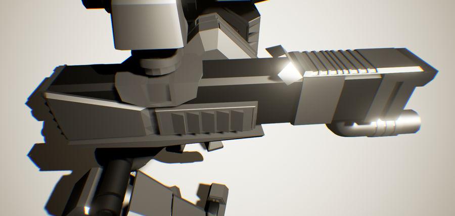 Robot Mech Machine royalty-free 3d model - Preview no. 3