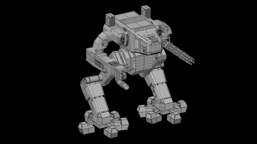 Robot Mech Machine royalty-free 3d model - Preview no. 9