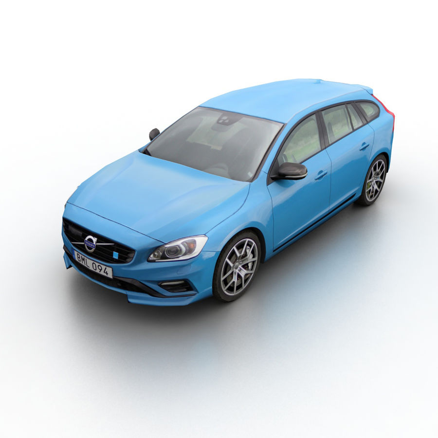 沃尔沃V60 Polestar 2015 royalty-free 3d model - Preview no. 1