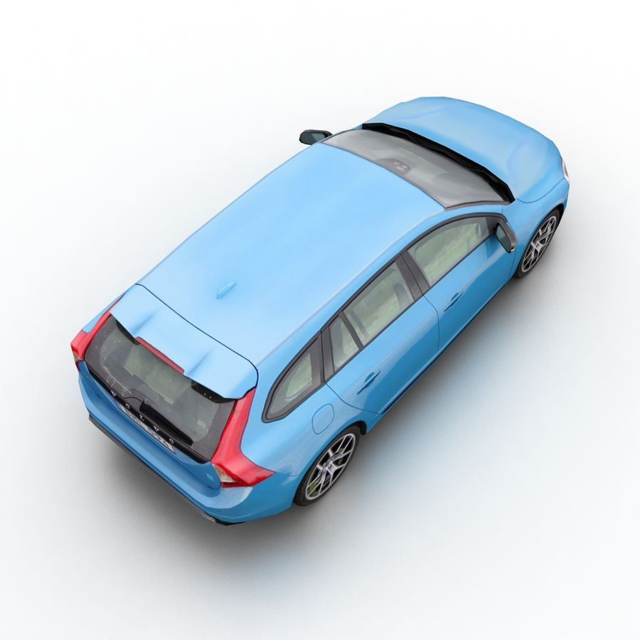 沃尔沃V60 Polestar 2015 royalty-free 3d model - Preview no. 6
