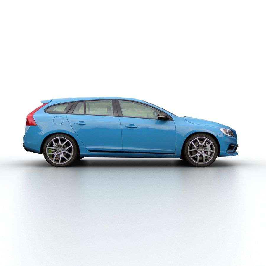 沃尔沃V60 Polestar 2015 royalty-free 3d model - Preview no. 3