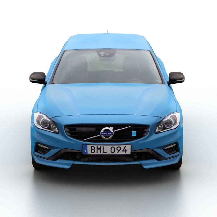 沃尔沃V60 Polestar 2015 royalty-free 3d model - Preview no. 4
