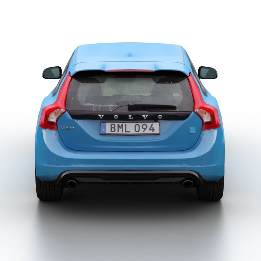 沃尔沃V60 Polestar 2015 royalty-free 3d model - Preview no. 5