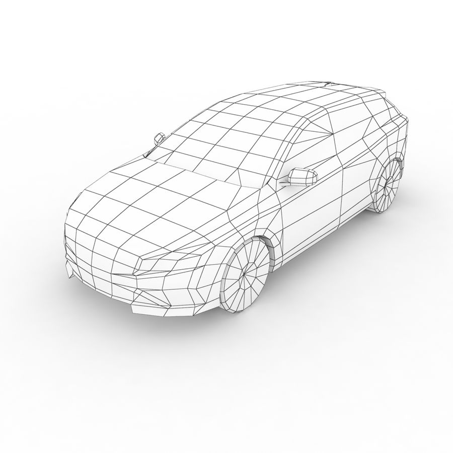 沃尔沃V60 Polestar 2015 royalty-free 3d model - Preview no. 7