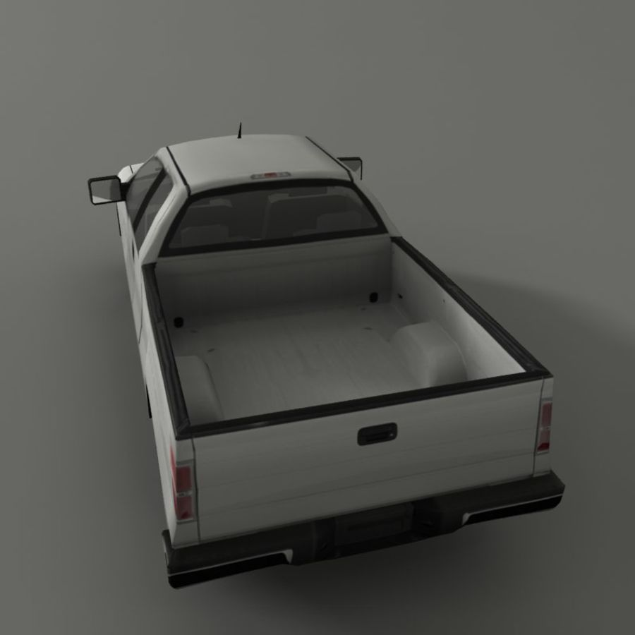 Пикап royalty-free 3d model - Preview no. 3
