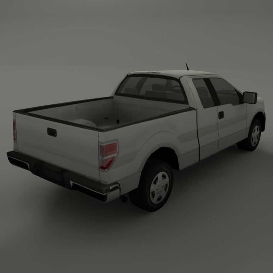 Пикап royalty-free 3d model - Preview no. 4