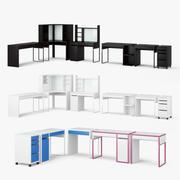 Zestaw stołowy Ikea Micke 3d model