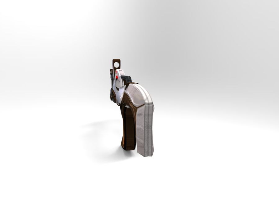 arme moderne royalty-free 3d model - Preview no. 30